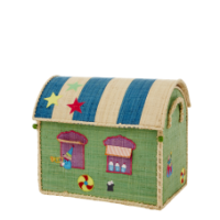 Rice Dk Small Circus Raffia Toy Basket